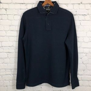Barbour Tartan Classic polo shirt size M blue
